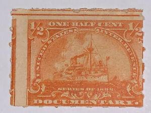 Travelstamps: us stamps scott #R161 Documentary 1/2 Cent Mint MOGH Battleships
