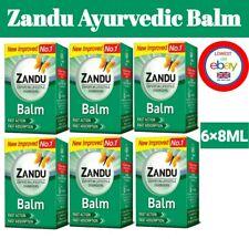 ZANDU Ayurvedic Pain Fast Relief Balm For Headache, Cold & Backache 6 X 8ml