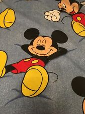 Disney Blue Mickey Mouse Twin Bed Sheet