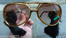 Elvis Presley Style Gold Sunglasses SIDEBURNS King of Rocknroll Good Quality