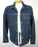 Levi's Men Jacket M Medium Blue Long Sleeve Denim Cotton Blend Trucker Jeans