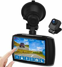 """New listing Z-Edge Dash Cam Front And Rear 4.0"""" Touch Screen Dual Dash Cam Fhd 1080P With Ni"""