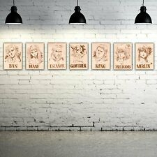 Seven Deadly Sins -Seven Deadly Sins Collection (7) Wooden Wanted Poster
