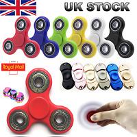 Fidget Spinner Finger Hand Focus Spin Steel EDC Anti Stress Toys UK pink rainbow