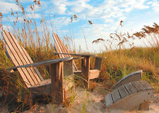 3D Lenticular Postcard - Adirondack chairs -  RELAX