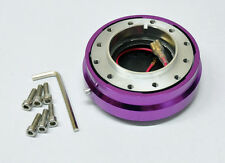 "Universal 1"" Thin Type Steering Wheel Quick Release Short Hub Purple"