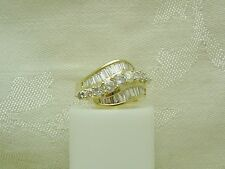 STUNNING 14K Solid Yellow Gold  DIAMOND RING SIZE 6 1/4 APRIL BIRTHSTONE N149-J