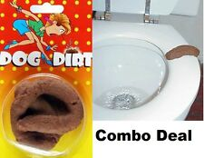Fake Dog And Human Poop Crap Turd Gross Prank and Gag Gift Combo Deal