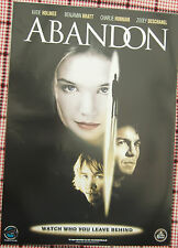 Katie Holmes  ABANDON (2002)  Original UK video release poster