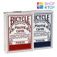 BICYCLE SECONDS PLAYING CARDS DECK STANDARD INDEX MAGIC TRICKS RED BLUE USPCC