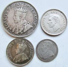 South Africa 4 Silver Coins 1932 2 1/2 Shilling 1896 6pence 1929 & 1941 Shilling