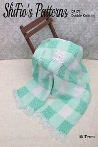 Crochet Pattern for Baby Blanket Pattern, Baby Afghan Pattern, UK, DK, SCP173