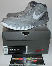 Nike Air Kyrie 1 I Wolf Grey Gray Silver White Sneakers Men's Size 12.5 Used