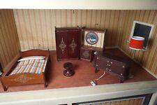 Chambre et luminaire - Mobilier pour Maison de poupée vintage lundby -