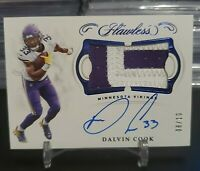 2019 Dalvin Cook Flawless Sapphire Patch Auto #'d 8/10!!!
