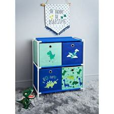 Dinosaur 4 Drawer Chest Storage Furniture Or Keeping Toys & Clothes Storage Unit