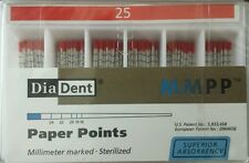 Diadent Absorbent Paper Points Size 25 ISO Color Coded Box of 200
