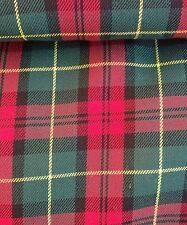 Royal Stewart poly viscose tartan dress Fabric 60 inch wide sold by the metre
