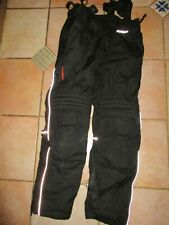 MEN'S SPIDI SIZE MEDIUM BLACK WATERPROOF TEXTILE MOTORCYCLE TROUSERS WITH BRACES