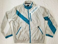 Rocksmith Tokyo full-zip windbreaker jacket men sz XL hooded green/grey