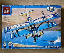 New 354Pcs Military Army Plane Biplane Propeller Building Blocks Bricks Gift Toy