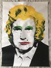 Mr Brainwash / Banksy Andy warhol Donald Trump screen print print 2007- 2008