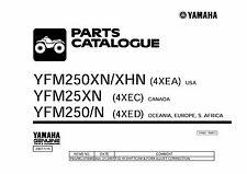 Yamaha ATV Parts Manual Book 2001 Bear Tracker YFM250XN / XHN