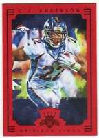 2015 Panini Gridiron Kings Framed Parallel Red Frame #100 C.J. Anderson Broncos