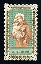 santino merlettato-holycard-canivet S.ANTONIO DA PADOVA