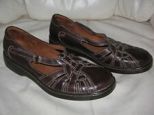 AUDITIONS Women's Brown Leather SLIP-ON FLATS SHOES  sz 11 S