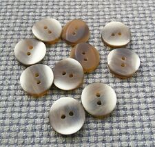 10 Cream Brown 18mm Marbled Vintage Buttons Coat Aran Jumper Cardigan 2 Hole