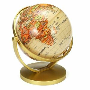 World Map Earth Globe With Stand Swivel Geography Educational Toy