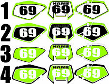 Number plate graphics for 2000-2004 Kawasaki KLX400 KLX 400 Side Panels Decal