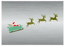 Christmas Santa's sled stencil 2 A5 to A0 14cm to 1.2 meters or bigger CMAS087