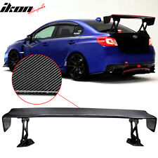 "Universal 57"" JDM GT GTS Carbon Fiber CF Drag Race Trunk Spoiler Wing"