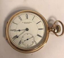 Vintage Antique late 1800's E.Howard Boston Gold Filled Series V Pocket Watch