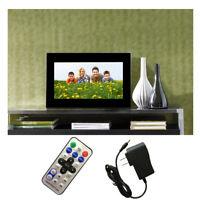 "NEW 7"" HD LCD Digital Photo Frame With Alarm Clock Slideshow MP3/4 Player Black"
