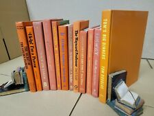 Lot of 10 Hardcover ORANGE Shades Color Mix Books for Staging Prop Decor Modern