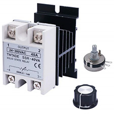 Twtade Ssr 40va 500k Ohm 14w To 24 380vac 40a Single Phase Solid State Relay