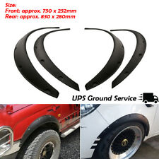 4Pcs Black Universal Flexible Car Fender Flares Extra Wide Body Kit Wheel Arches