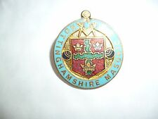 green bowling club pin badge - old collectable - NOTTINGHAMSHIRE
