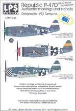 LPS Decals 1/72 REPUBLIC P-47D RAZORBACK THUNDERBOLT Markings & Stencils