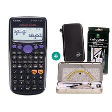 Casio FX 83 GT Plus Taschenrechner + Schutztasche und GeometrieSet