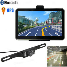 "5"" Car Truck Auto LCD GPS Navigation Bluetooth+Wireless Rear View Backup Camera"