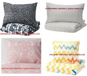 NEW GENUINE IKEA Duvet Quilt Cover Pillowcase 240X220CM  200X200CM 150X200 UK