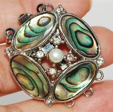 Beautiful Abalone Shell Clasp Three strand clasp#4