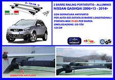 Barre Portatutto Portapacchi Alluminio - Chiavi Antifurto Nissan Qashqai 2006>
