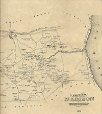 Old Bridge Madison Park Runyon Parlin NJ 1876 Maps with Homeowners Names Shown
