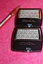 2X L'Oreal Paris Wear Infinite Eye Shadow #910 PURE SILVER + FREE LIP LINER