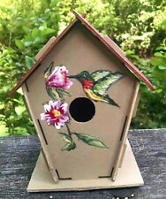 #1 beautiful hand-painted birdhouse